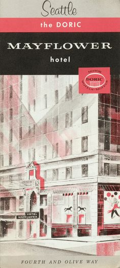 mayflower hotel, seattle - brochure - hotel has a whole chapter in my book!