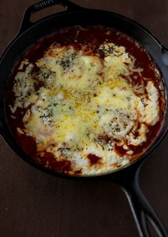 Quick Tomato Baked Eggs Skillet Supper