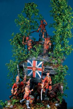 A Daily Dose 29april2014 from Michigan Toy Soldier & Figure Co. www.michtoy.com The Scream of War, French & Indian War 1755. A diorama using plastic 1/72 scale figures from Italeri and others as featured in the latest issue of Soldatini Magazine. Details here: http://bitly.com/POHd9y