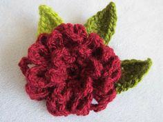 Free Zinnia flower crochet pattern + link to youtube tutorial from Wind Rose Fiber Studio Studio, Crochet Flowers, Rose, Crocheted Flowers, Flower Tutorial, Crochet Flower Patterns, Zinnia Flower, Crochet Patterns, Flower Crochet