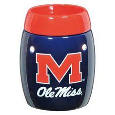 Ole Miss - University of Mississippi Rebels - this is the safe (without the safety risks of a burning candle ), wickless alternative to scented candles. This wickless concept is simply decorative ceramic warmers designed to melt scented wax with the heat of a light bulb instead of a traditional wick and flame.