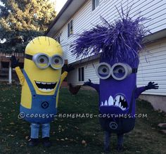 Awesome Homemade Minion Couple Costumes… Coolest Halloween Costume Contest