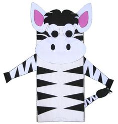 lunch bag template | crafts for kids paper bag zebra craft materials a paper lunch bag ...