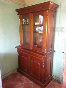Beautiful Timber Amp Glass Buffet Display Cabinet Hutch