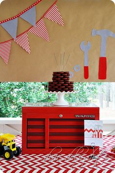 Really cute tool themed party for young builders. Great styling, but also lots of fun activities for the kids to do! Another really original theme!