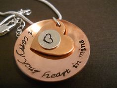 Memorial Loss Necklace I Carry Your Heart by ByNoahsArkCreations, $28.00