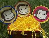 Curious Monkey George Theme Happy Birthday Banner. $18.00, via Etsy. curious monkey, birthday parti, monkey theme, happy birthdays, theme birthday, happi birthday, birthday banner