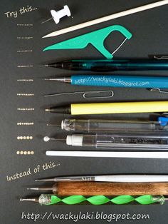 Pinned by www.SimpleNailArtTips.com SIMPLE NAIL ART DESIGN IDEAS - Wacky Laki: Tips & Tricks: Dotting Tool Alternatives