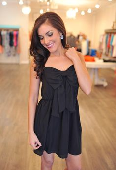 Dottie Couture Boutique - Bow Dress- Black, $46.00 (http://www.dottiecouture.com/bow-dress-black/)