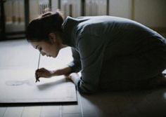 Japanese Girl painting