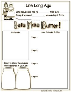 If you're studying about life long ago, this experiment is perfect for your kiddos. Watch students' amazement as they make their own butter in this activity $