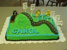 Over the hill - Over the hill cake.  Inspiration from other CC cakes.  Thanks!!