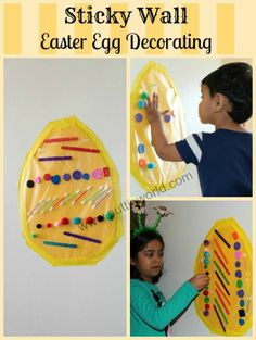 Sticky Wall Easter Egg Decorating from Putti's World
