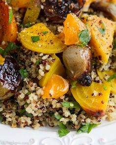 This looks incredible! Golden Beet Salad with Shallots, Parsley, and Orange Miso Dressing from Oh, She Glows