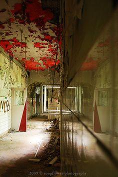 Peeling paint, modern ruins