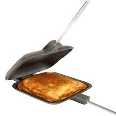 A Pudgie Pie is traditionally a hot sandwich made over a campfire in a Pie Iron. In my opinion, no camping trip should be without a Pudgie Pie...