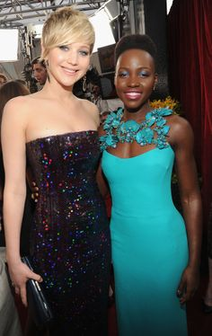 What a pair! Jennifer Lawrence and Lupita Nyong'o at the SAG Awards