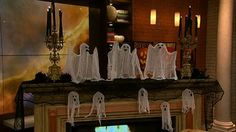 Clinton's Craft Corner: Halloween Floating Ghosts... super easy!