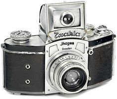 1936, Kine Exakta: the first production, 35mm SLR. Also the first interchangeable lens camera with bayonet lens mount. Some will say the first 35mm SLR was the Soviet Sport in 1934 - this was when the prototype was shown and it didn't actually go into production until 1937.