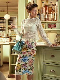 Floral Pencil Skirt Burda Mar 2013 #117