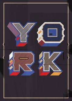 York by Blake E. Marquis by YouWorkForThem , via Behance