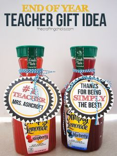 Simply The Best Teacher Gift [Printable Tags] - Be Different, Act Normal by Lorie