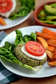 Green Power Burgers--an easy #vegan burger that will surprise you!  from Coconut and Berries