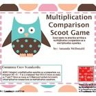 Use this fun fast paced game to practice using multiplication comparisons to write multiplication equations with students.