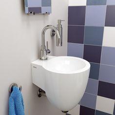 Clou toiletruimte concept flush 1 fontein met kaldur fonteinkraan quadria zeepdispenser look - Voorbeeld toilet ...