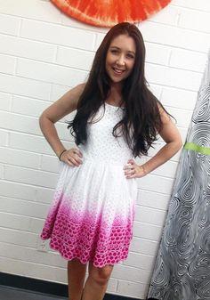 iLoveToCreate Blog: Dip-Dyed Eyelet Dress DIY