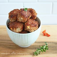 Low Carb and Gluten Free Sundried Tomato and Feta Meatballs - ibreatheimhungry.com