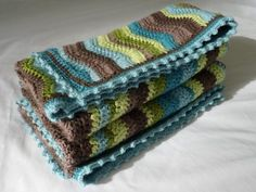 Beautiful baby blanket. I love, love, love the colors! I may need to make one of these ~ so sweet!!
