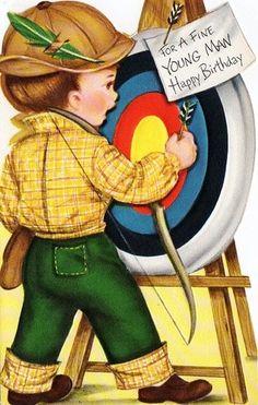 birthday card, greet card, illustr birthday, vintag card, happi birthday, vintag imag, imagen vintag