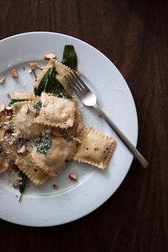Butternut Squash Ravioli with Brown Butter