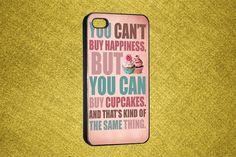 Cupcake iPhone 4S Case - iPhone 4 Case - iPhone 4S Case - Cupcake iPhone 4 Cover - iPhone Case. $16.99, via Etsy.