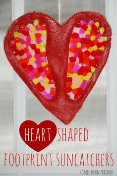 actual idea, footprints, heart shape, shape footprint, bead craft