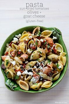 Gluten-free Pasta with Sun-dried Tomatoes & Olives | With Style and Grace