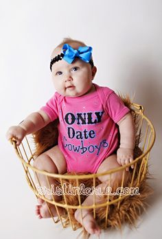 baby cowgirl... My future daughter will have this onesie (: