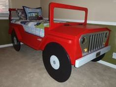 Boys beds on pinterest tractor bed john deere bed and john deere room - Jeep toddler bed plans ...