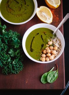 Redeeming Green Soup with Lemon and Cayenne. #vegan #glutenfree #soyfree