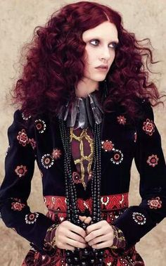 Aveda new collection. I want this entire outfit, jewelry, and hair!