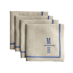 Monogrammed cocktail napkins.