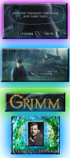 Grimm TV show series premiere was in Fall 2011. And you thought they were just fairy tales. ;) The Grimm poster. Monroe Blutbaden. Grimm is an awesome TV show!