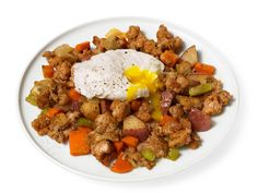 Farmhouse Hash With Pot-Poached Eggs from #FNMag