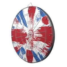 Cool gift for teens - #British #Flag #Grunge Painted #DartBoard by #ShaleceElynne $66.35 www.zazzle.com/shaleceelynne* #cool #teen #gifts #trendy #games #CollegeDorm