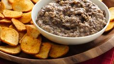 Black Bean Hummus ~ Make this classic Middle Eastern dip made using Progresso® black beans and Old El Paso® green chiles – a tasty appetizer served with Pillsbury® baguette chips.