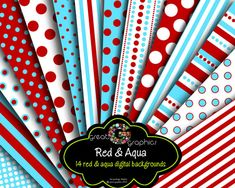 red and aqua paper