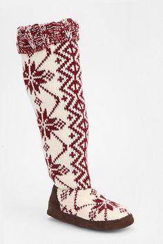 slipper-sock boot. cozy.