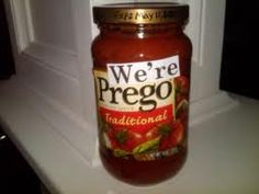 Fun idea for a pregnancy announcement....watch out for the next pasta dinner!