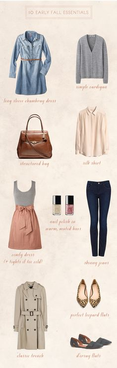 10 Early Fall Essentials.... At Lear I have two of these already. :)